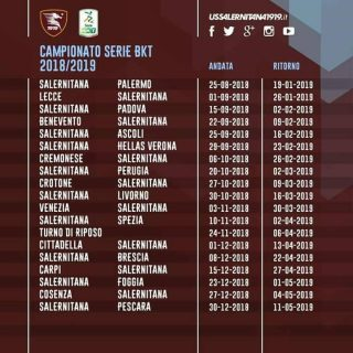 Calendario Salernitana